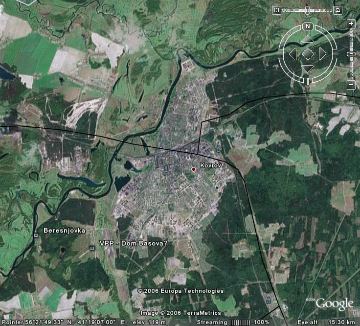 Находим в GoogleMap Ковров.